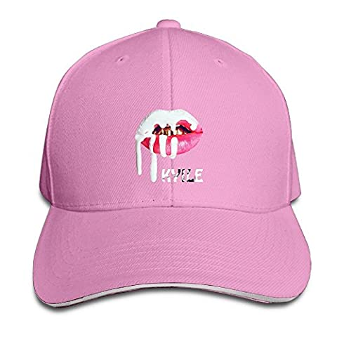 Hittings Unisex Kylie Jenner Adjustable Snapback Sandwich Bill Cap Hunting Peak Hat/Cap - Black Pink