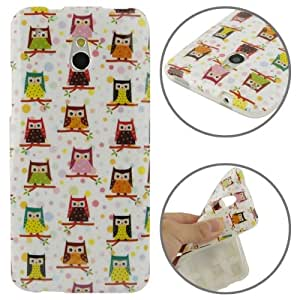 Owl Pattern TPU Protective Case for HTC One mini / M4