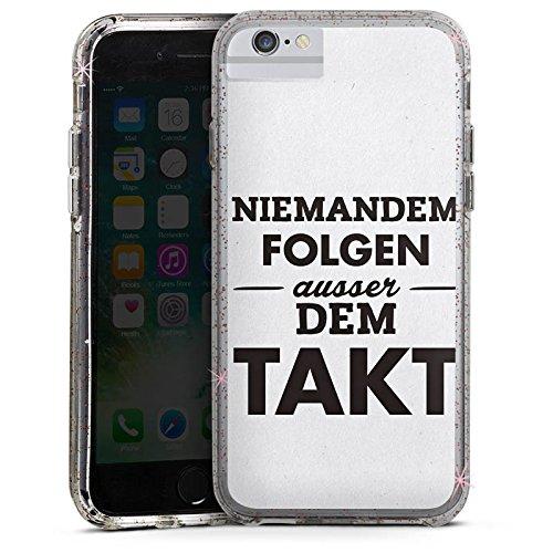 Apple iPhone 6 Bumper Hülle Bumper Case Glitzer Hülle Takt Phrases Sprüche Bumper Case Glitzer rose gold