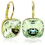 Ohrringe mit Kristallen von Swarovski® Grün Gold NOBEL SCHMUCK