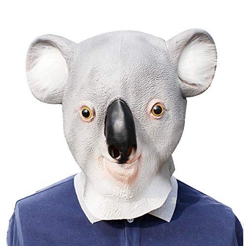 PQZATX Halloween Tier Serien Koala Kopfmaske Für Kostümparty