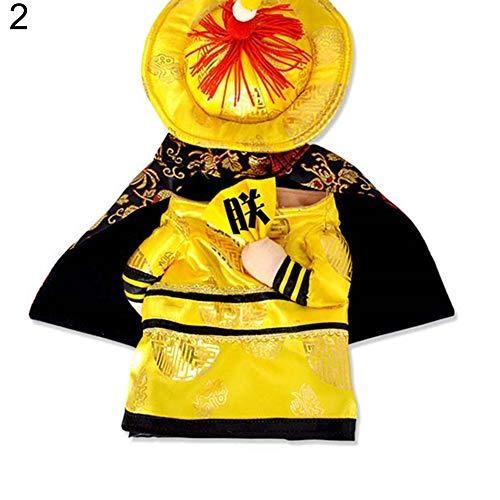 Renendi Halloween Requisiten Haustier Hund Katze Chinese Kaiser Prinzessin Outfit Cosplay Kostüm Lustige Kleidung Party Alltag #2 - Narr Hunde Kostüm
