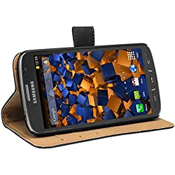 Mumbi Etui Cuir Samsung Galaxy S4 Active en Book Style - Etui à Clapet Portefeuille Étui Housse Protecteur Pochette Bookstyle support / Pied Pivotant Noir