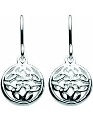 Heritage 62005HP001 - Pendientes de plata de ley sin gema con cierre de gancho
