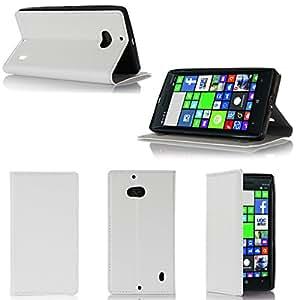 Etui luxe Nokia Lumia 930 4G blanc Ultra Slim Cuir Style avec stand - Housse Folio Flip Cover coque de protection Nokia 930 3G/4G/LTE/Wifi blanche - Accessoires pochette XEPTIO : Exceptional case !