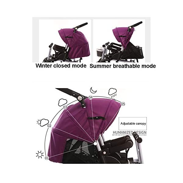 CHEERALL Twin Baby Stroller Children's Double Tricycle Summer Lightweight Breathable Toddler Pushchairs Double Buggies for Kids from Birth to 4 Years Old,B CHEERALL 3 in 1 MULTIFUNCTION:The canopy and push bar can be removed when kids grows, suitable for 3 childhood stages:Lying-pushing, Sitting-pushing, Cycling. SECURITY:Kids trike frame is made of high quality materials. Baby tricycle passed the 3C certification: non-toxic test, flame resistance test and durability test.Suitable for children from birth to 4 years. ADJUSTABLE SLEEPING BASKET & ADJUSTABLE CANOPY:The sleeping basket can be adjusted 100-175 degrees to meet the different needs of the baby to sit and lie down.Adjustable awnings allow you to adjust the different opening modes of the awning depending on the weather. 4