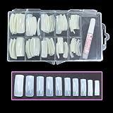 Neue professionelle natürliche Nägel mit Tip Box & Kleber (halbe Tipps - 100pcs) für Nail Extensions Nail Art Acryl Nägel Design CODE Tipps: #462 H