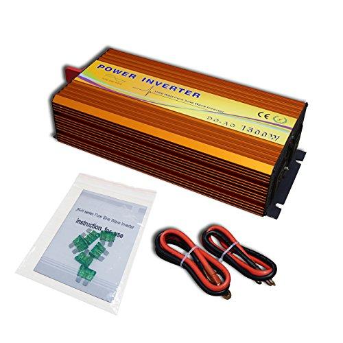 ECO-WORTHY 1500w 12v Convertisseur à signal sinusoïdal 220 V DC Convertisseur hors réseau Avec fonction MPPT (1500W 12V Input)