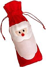 Phenovo Christmas Santa Claus Red Wine Bottle Cover Bag Dinner Party Xmas Decor