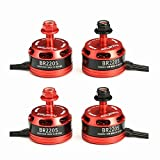 Wishfive 4X Racerstar Racing Edition 2205 BR2205 2300KV 2-4S Brushless Motor For QAV250 ZMR250 Quadcopter Multicopters (2 CW & 2 CCW )