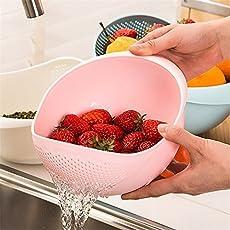 SHOPTOSHOP Ketsaal Plastic Bowl Strainer(Multicolour)