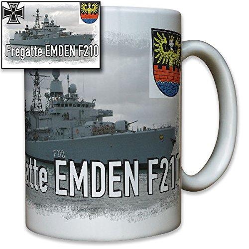 Fregatte Emden F210 deutsche Marine Schiff Wappen Abzeichen Emblem Foto - Tasse Becher Kaffee #8239 -