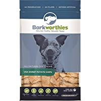 barkworthies All naturall Rich USA Sweet Potato Chips Dog Vegetarian Treats 1lbs