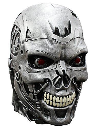 Terminator Genisys Maske Lizenzware Cyborg Silber -