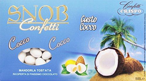 Crispo confetti snob cocco - colore bianco - 500g