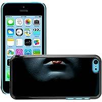 Premium Slim Polycarbonate Aluminium Cassa del telefono Custodia Case Bandiera Cover Armor // M00047999 lips geisha aero black // Apple iPhone 5C - Aero Lip