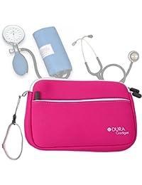DURAGADGET Estuche De Neopreno Rosa para Guardar Sus Accesorios Médicos (Estetoscopio/Tensiómetro) |