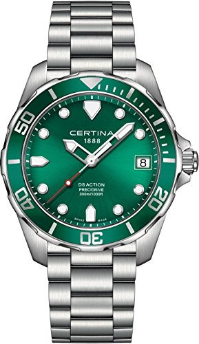 certina-mens-ds-action-41mm-steel-bracelet-case-quartz-green-dial-analog-watch-c0324101109100