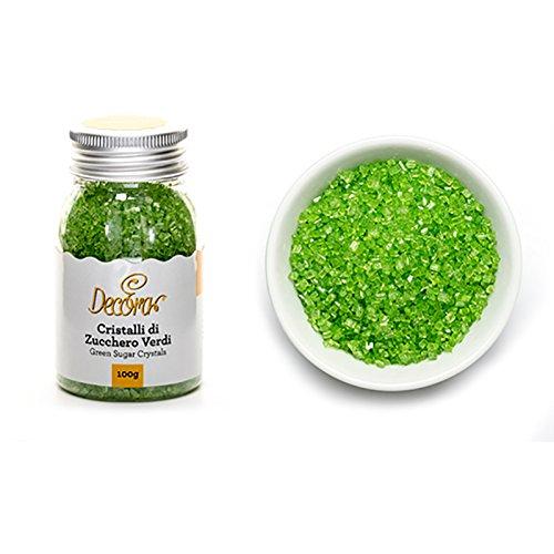 Decora Cristaux en Sucre Vert Paquet de 100 g