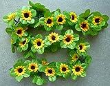 Blumengirlande CBK-MS® Sonnenblumen gelb ~ ca. 120 cm ~ zum verschönern Ihres Fahrrades oder Ihrer Wohnung