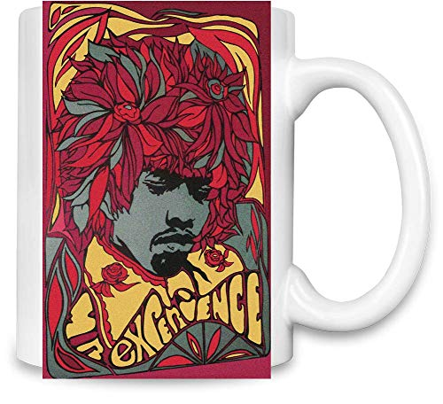 Jimi Hendrix Erfahrung Experience Unique Coffee Mug | 11Oz Ceramic Cup| The Best Way to Surprise Everyone On Your Special Day| Custom Mugs by -