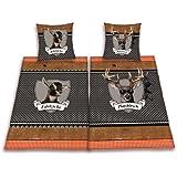 Herding 445958239 Partner-Bettwasche Platzhirsch/Edelzicke im Doppelpack ( Inhalt: 1 x Bettwasche Edelzicke. 1 x Bettwasche Platzhirsch ), 80 x 80 cm + 155 x 220 cm. Übergröße, Renforce