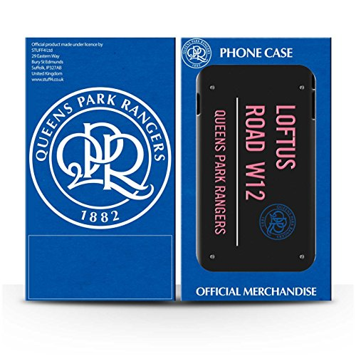 Officiel Queens Park Rangers FC Coque / Clipser Brillant Etui pour Apple iPhone 7 / Blanc/Rose Design / QPR Loftus Road Signe Collection Noir/Rose