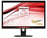 Philips 242G5DJEB/00 61 cm (24 Zoll) Monitor (VGA, DVI, 2xHDMI, USB, DisplayPort, 1920 x 1080, 144 Hz, 1ms Reaktionszeit, höhenverstellbar, Pivot) schwarz