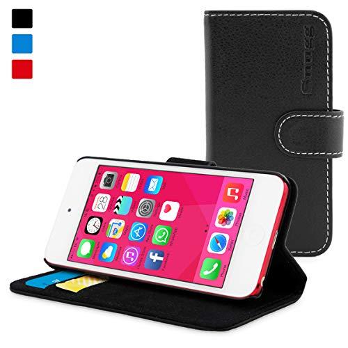 iPod Touch 5G/6G Hülle (Schwarz), SnuggTM - Flip Case mit lebenslanger Garantie + Kartenfächern & Standfunktion