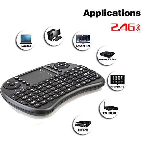 Generic White, Arabic n English :  Hebrew/Arabic/English/Russian/Spanish/Italian i8 Wireless Mini Gaming  Keyboard Fly Air Mouse for Android TV Box