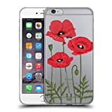 Head Case Designs Rote Mohnblumen Rosen Und Wildblumen Soft Gel Hülle für iPhone 6 Plus/iPhone 6s Plus
