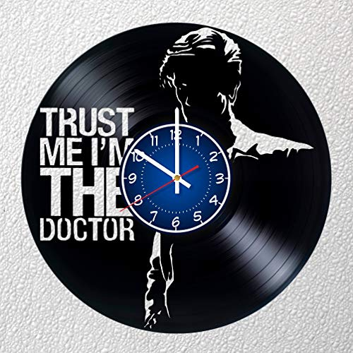 Doctor Who Kunst 30,5 cm/30 cm Vinyl Schallplatte Wanduhr | DR WHO Fan Geschenk | Breaking Bad Uhr | Kinder Room Decor Idee | Marvel Home Art Party DR WHO Film Art Doctor Who Jungen (Christmas Für Party-ideen Kinder)