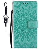 SsHhUu Lumia 640 LTE Case, Premium PU Leather Folio Wallet