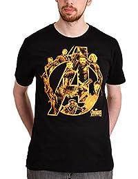 Avengers Men's T-Shirt Infinity War Heroes Marvel Cotton Black
