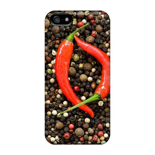 Tpu Purecase Shockproof Scratcheproof Hot Peppers Food Hard Case Cover For Iphone 5/5s