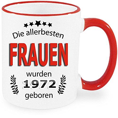 """Tasse Ring Rot zum Geburtstag """" Die allerbesten Frauen 46 """". Auch für Männer erhältlich. Nur Original von DRUCK-DEINE-TASSE"""