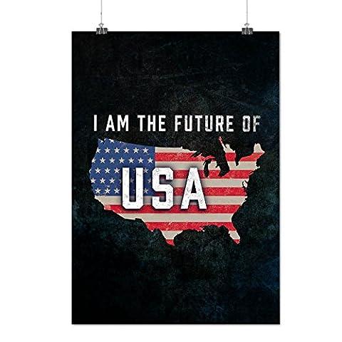 ich Das Zukunft Amerika USA Mattes/Glänzende Plakat A2 (60cm x 42cm) | Wellcoda