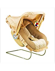 FLIPZON 9-in-1 Carry Bouncer Cot for Baby with Mosquito Net (Brown)