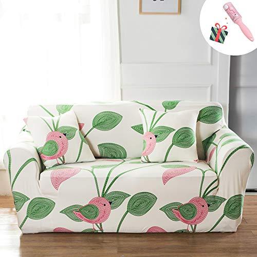 Elastisch Sofa Überwürfe Sofabezug, Morbuy Ecksofa L Form Stretch Antirutsch Armlehnen Flamingo Sofahusse Sofa Abdeckung Hussen für Sofa Couchbezug Sesselbezug (1 Sitzer,Beige)