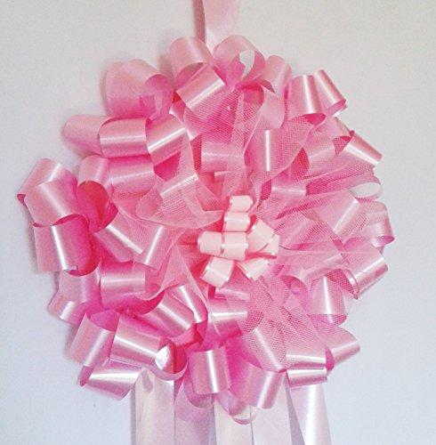 Fiocco nascita rosa per interno esterno diametro 24 cm (fiocco rosa)