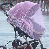Queta aumentare il bambino auto Full crittografia insetti zanzariera bambino passeggino zanzariera Full cover mosquito net(Pink add dense)
