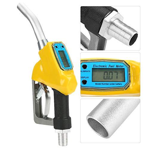 Zapfpistole mit Mechanischem Zählwerk 75L/min 0,25MPa, Aluminium Dieselpumpe Pistole Umfüllpumpe Manuell für Dieselöl Petroleum Benzin -