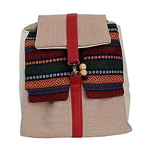 Rucksack Damen 33cm wasserdicht 'beige-bunt'| Tasche | HANDMADE | Geschenkideen für Frauen