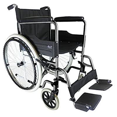 D PRO T Luxury Lightweight Folding Self Propelled Wheelchair Removable Footrests Puncture Proof With Armrest And Portable