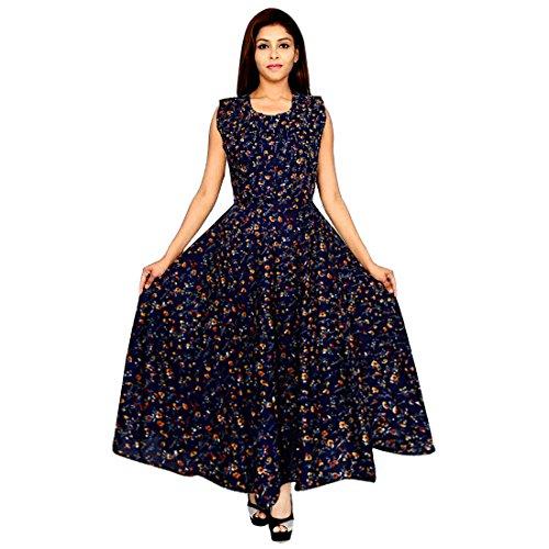 JWF Women's Jaipur Prints Rayon Comfort Rajasthani Dress (FR_4902, Multicolour, Free Size) 5147rtt282L