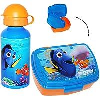 Preisvergleich für alles-meine.de GmbH 2 TLG. Set _ Lunchbox / Brotdose & Trinkflasche - Disney - Findet Nemo - Fis..