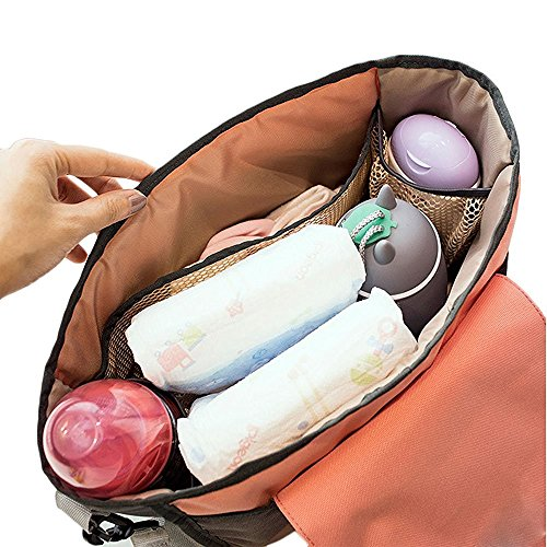 Kinderwagen Organizer,Befitery Abnehmbarer Wasserdicht Baby Buggy Aufhängen Tasche mit Geldbörse und extra Aufbewahrungstasche Stauraum für Kinderwagen Kosmetik Reise Rosa