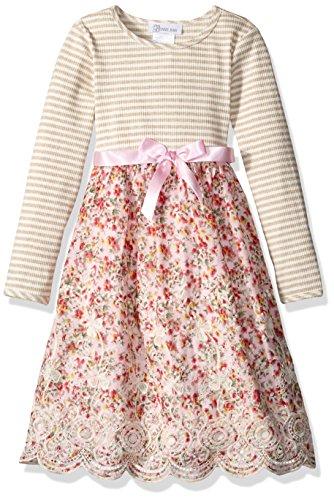 Bonnie Jean Kinder Mädchen Kleid Knit to Floral Blumen Dress (6X)