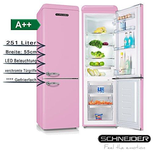 Schneider SL 250SP Kühl-/Gefrierkombination, pink