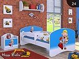 moleo 5902729202015 Children's Bed-Bob the Builder, Holz, White, 144 x 75 x 62 cm